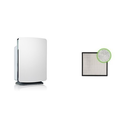 (Alen BreatheSmart Customizable Air Purifier with HEPA-Pure Filter for Allergies and Dust (White, 1-Pack) & Alen (BF35-Silver-Carbon) HEPA-Silver-Carbon Replacement Filter for BreatheSmart Air Purifier, 1-Pack)