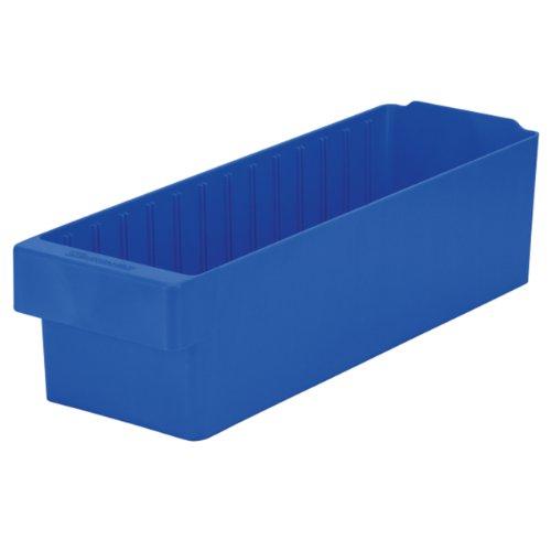"Akro-Mils 31168 AkroDrawer Plastic Storage Drawer, 17-5/8"" L x 5-9/16"" W x 4-5/8"" H, Blue, Case of 6"