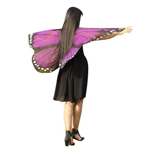 FEITONG Halloween Party Women Bohemian Butterfly Print Shawl