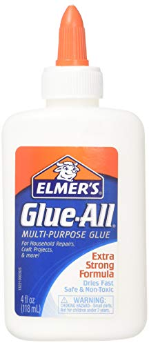 Elmer's Glue-All Multi-Purpose Glue, 4 Ounces, White (E1322) - 2 Pack