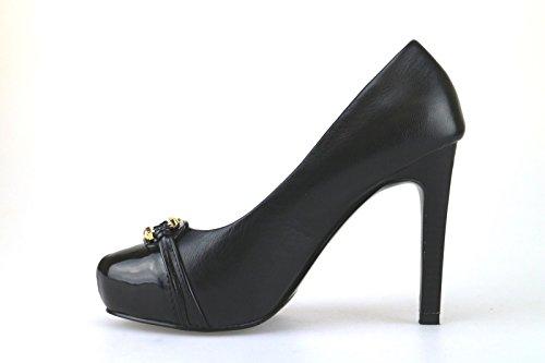 Gaudi - Zapatos de vestir de Piel para mujer Negro negro