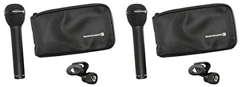 (2)Beyerdynamic M88TG M88 TG Hyper-Cardioid Dynamic Microphone Mic w/ Clamp +Bag