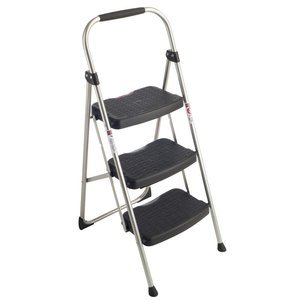 Werner 223-6 StepRight 225-Pound Duty Rating Type II Step Stool Steel, 3-Foot]()