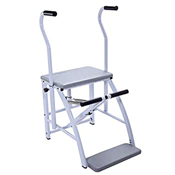 Image of Pilates AeroPilates Precision Pilates Chair | 2 Online Expert-Guided Workouts Included | Stream from Any Device, Gray