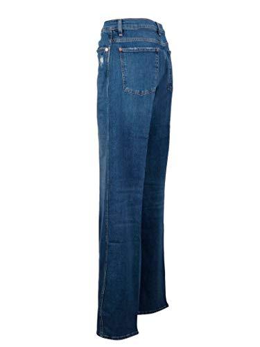 Jsp0l540em Donna All Blu Mankind 7 Cotone Jeans For XnRqHnw71I