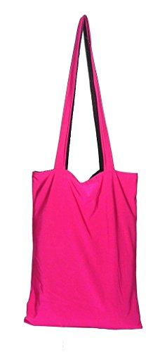 Rosa Chic Bag ist eine Tasche zu Tasche reversible (2 Taschen 1) ändert sich die Farbe in 1 Sekunde. Eine Einkaufstasche aus 100% made in Italy