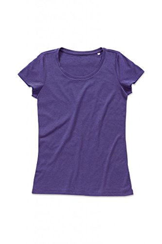 """Stedman Damen Damen Melange T-Shirt """"Lisa"""" ST9900 Purple Heather XL"""