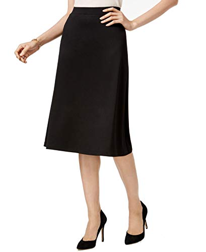 Kasper Womens A-Line Suit Seperates Midi Skirt Black S