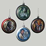 WALKING DEAD CHARACTER DISC CHRISTMAS ORNAMENT - SET OF 4