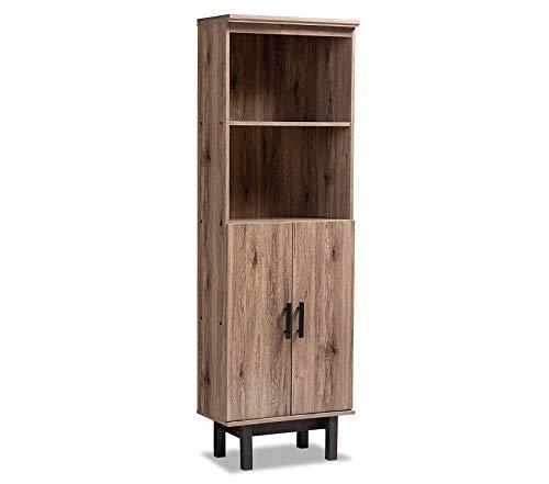 (Office Home Furniture Premium Studio Bookcases, One Size Oak/Black)