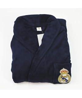 10XDIEZ Bata Real Madrid 306M Azul Marino - Medidas Albornoces/Batas Adulto - L (