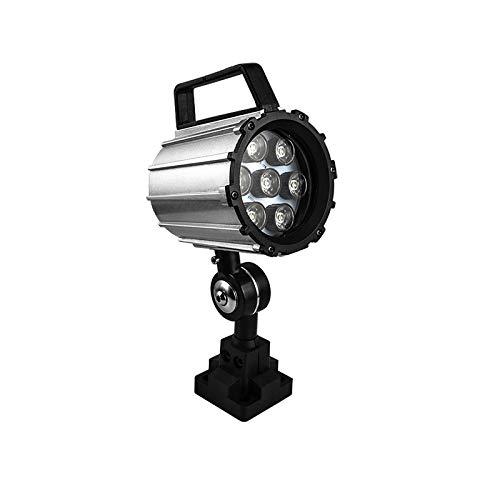 Industrial Machine Light,12W 110V-220V Adjustable Aluminum Alloy LED Work Light IP68 for Lathe, CNC Milling Machine, Drilling Machine - Short Arm ... (12)