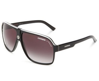 Carrera 33/S Aviator Sunglasses,Black Crystal Grey Frame/Dark Grey Gradient Lens,one - Carrera Shades Aviator