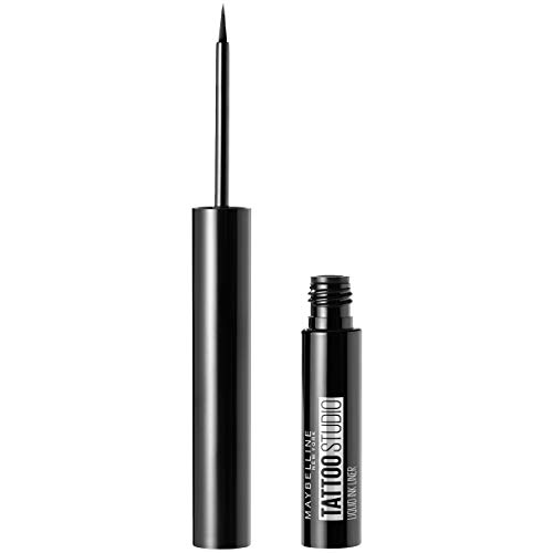 Maybelline New York TattooStudio Liquid Ink Eyeliner Makeup, up to 36HR Wear, Sweat Resistant, Smudge Resistant, Ink Black, 0.08 fl. (Best Maybelline Liquid Makeups)