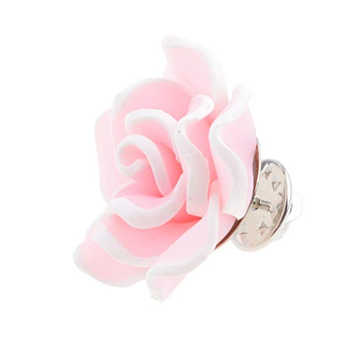 "Fashion Polymer Clay Flower Brooch Pin Jewelry Wedding Bridal Bouquet DР""Вcor (Color - Pink)"
