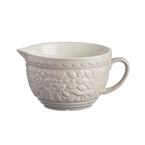 Mason Cash In The Forest Stoneware Batter Bowl, 9-3/4-Inches by 7-1/2-Inches by 5-Inches, Cream (Punch Bowl Uk)