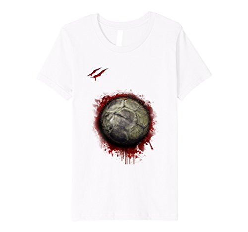 Girl Football Player Costumes (Kids zombie soccer player tshirt Christmas 2017 8 White)