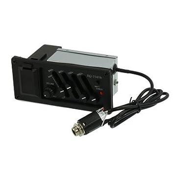 Guitarra eléctrica caja, caja de pastillas, Electric Piano, 4 EQ Ecualizador secciones, amplificador de guitarra acústica modificado: Amazon.es: ...