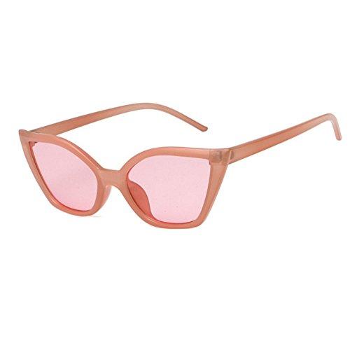 de gato Vintage estrecho ojo gafas sol para Goggles Pink marco Clout de de de policarbonato WeiMay moda mujeres f1tnpxp