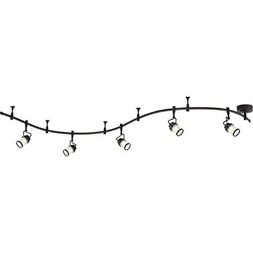 (Quoizel THR1405WT Theater LED Track Lighting Kit, 5-Light, 35 Watts, Western Bronze (11