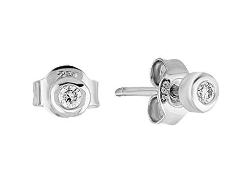 Boucles d'Oreilles Diamants Solitaire 0.09 Carat-Femme- or Blanc 215E0007