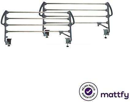MATTFY Juego de Barandillas Metálicas Geriátricas Abatibles de 4 ...