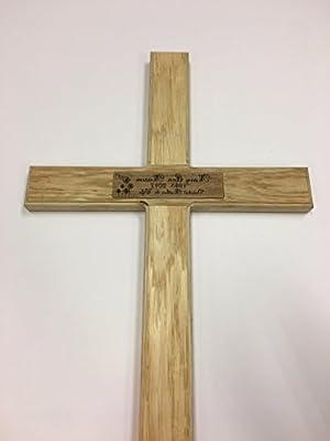 Cruz de madera para recordatorio temporal, de roble macizo, para ...