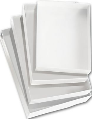 Clear Top Gift Box (Clear Gift Boxes - Clear Top Boxes w/ White Base, 6 9/16 x 4 13/16 x 1