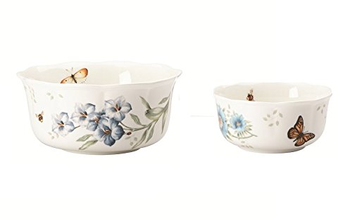 Lenox Butterfly Meadow Blue Nesting Bowls, Set of 2