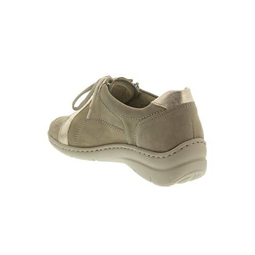 Femme Waldläufer 554 Chaussures 203 Beige À Ville 931003 De Lacets Pour nnrxTzf