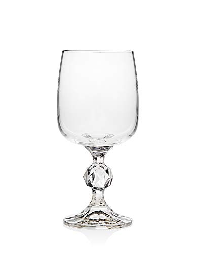 Wine Glass Goblet, Stemmed Cup Claudia by Godinger – Set of 6