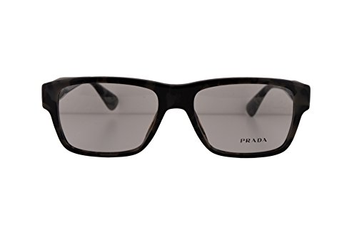 Prada PR17SVF Eyeglasses 55-17-145 Spotted Brown Gray w/Demo Clear Lens UEL1O1 VPR17SF VPR 17SF PR 17SVF (NO BOX & NO - Non Transition Lenses Prescription