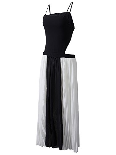 Chiffon Backless Dress Maxi As Strap Party Pleats Women Picture TZptwxB