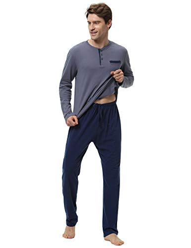 100 para Aiboria algod Set hombre pijama qxEEwIZY