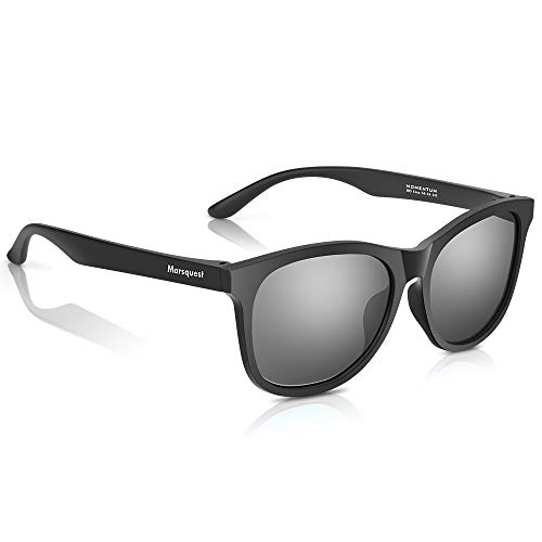 Polarized Sunglasses for Men Women, Anti-Slip Sport Sunglasses UV 400 Protection (Carbon Black × Charcoal) (Sun Arizona Shades Patio)