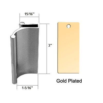 Bright Gold Tub Enclosure and Sliding Shower Door Pull Handle ...