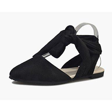 LvYuan Mujer-Tacón Plano-Confort-Sandalias-Vestido Informal-PU-Negro Beige Bermellón Burgundy
