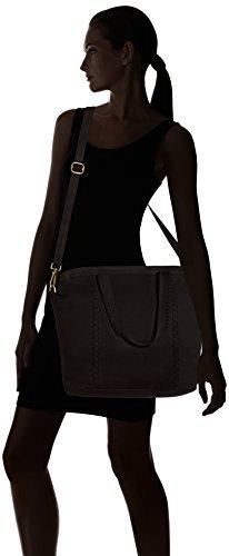 AMSTERDAM COWBOYS Damen Bag Dawley Schultertaschen, 31x34x14 cm Schwarz (Black 100)