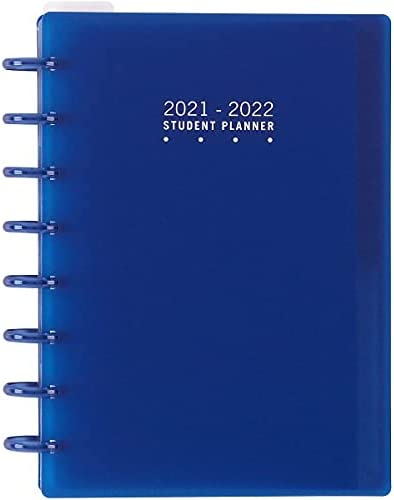 TUL Discbound Weekly/Monthly Student Planner, Junior Size, Blue, July 2021 to June 2022