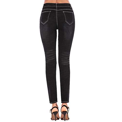 Grande Mujeres Casuales Cintura Ajustados Talla 34 De Pantalones Agujero Jeans Elástica Media Fuerza Negro Delgado Sfsf Las Pantalon Mujeres fI7AaxnSqw