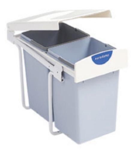 Eurodomo Einbau-Abfallsammler Pull 215 Mülleimer mit 2 Behältern je ...