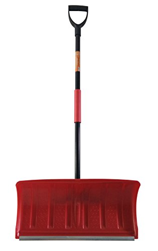 Superio Heavy Duty Pusher Snow Shovel with Metal Strip (22 (Metal Snow)