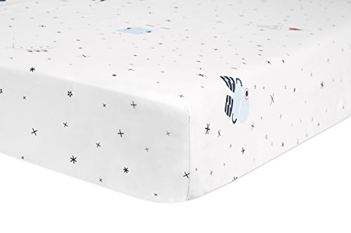 Babyletto Fitted Crib Sheet, Galaxy Floating Robots