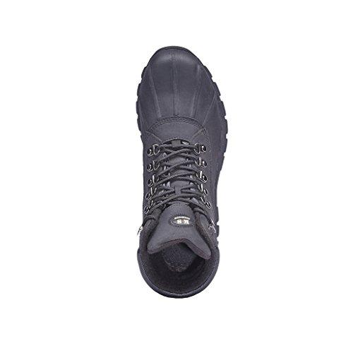 KINGSHOW Mens M0705 Water Proof Black Leather Rubber Sole Winter Snow Boots VsDQPNHBxi