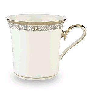 Lenox Solitaire White Platinum Banded Bone China Accent Mug