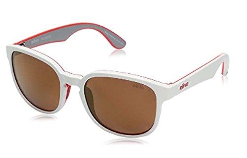 Revo Sunglasses Revo Re 1028 Kash Polarized Sunglasses Wayfarer, White/Coral/Grey Open Road, 57 mm