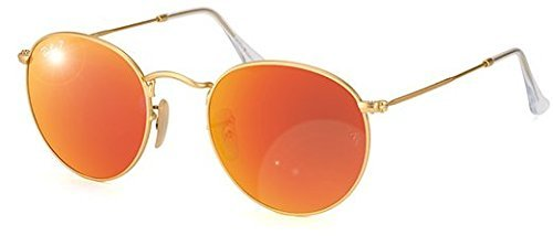 Ray-Ban - Gafas de sol Redondas 0rb3447 Round Metal, Multicoloured (Gold/