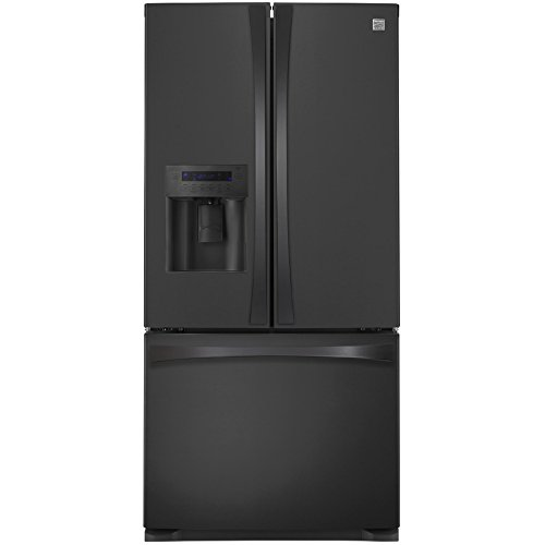 - Kenmore 4673139 Wide French Door Bottom Freezer Refrigerator with Dispenser, 24.2  cu. ft, Black