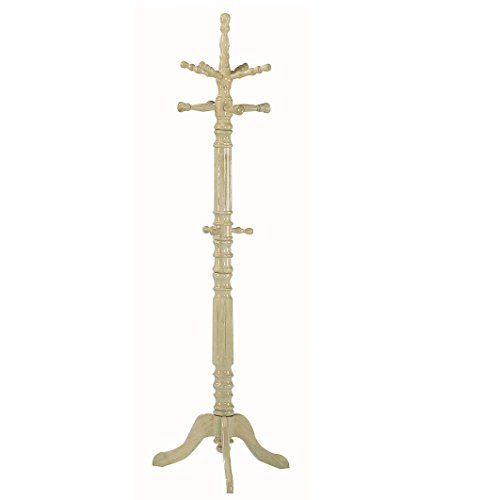 Advanced Furniture Deluxe Solid Wood Hall Tree Umbrella Rack (Natural Finish)