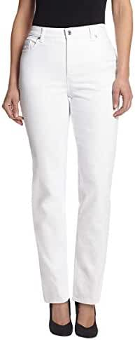 Gloria Vanderbilt Women's Amanda Tapered-Leg Jean In White